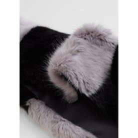 マンゴ MANGO Faux fur stole (lt-pastel blue)