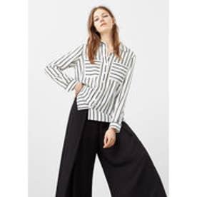 マンゴ MANGO Striped blouse (natural white)
