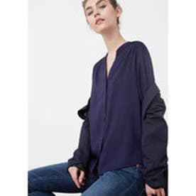 マンゴ MANGO Flowy shirt (medium blue)