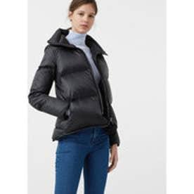 マンゴ MANGO Quilted feather coat (black)