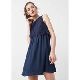 マンゴ MANGO Lace top gown (medium blue)