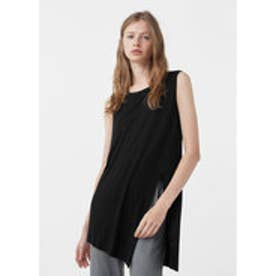 マンゴ MANGO Side slit top (black)