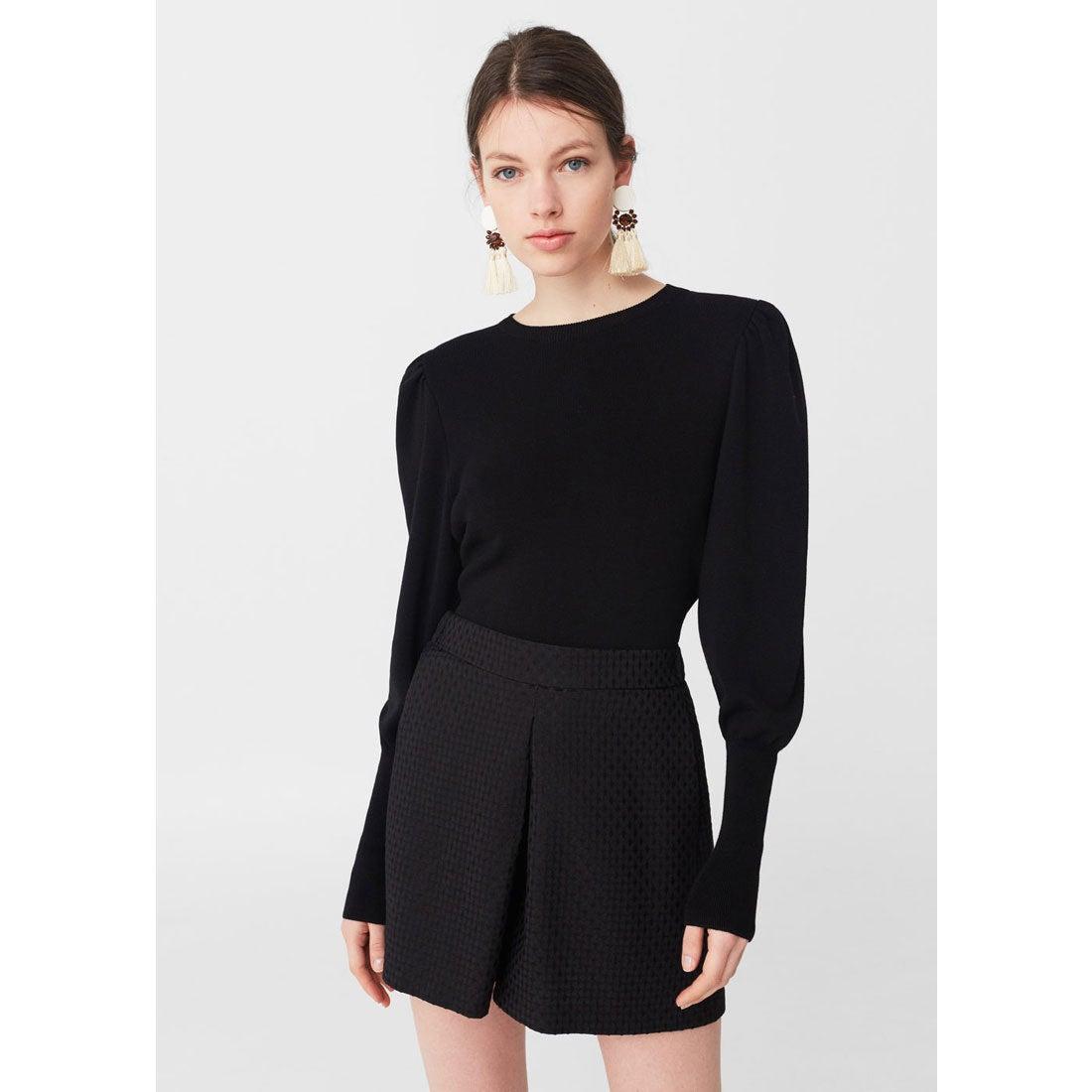 キュロットスカート . ALLEPUZ (ブラック)