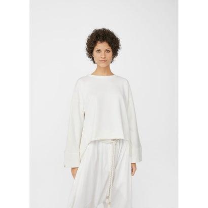スウェットトップス Oversize cotton sweatshirt (ホワイト)