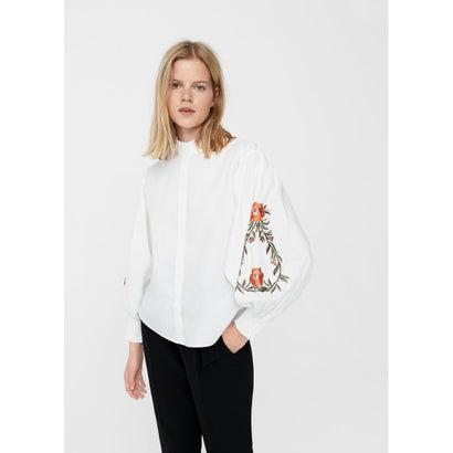 シャツ .-- FLOWER (ホワイト)
