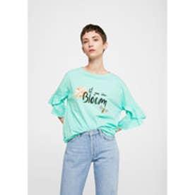 Tシャツ .-- BLOOM-H (ターコイズブルー)