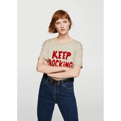 Tシャツ .-- KEEPING (ライトベージュ)