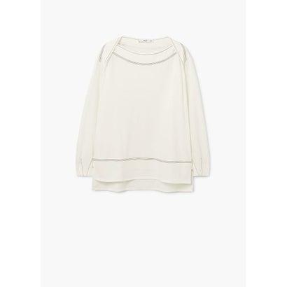 Tシャツ .-- FLORES (ナチュラルホワイト)