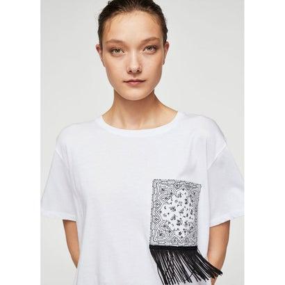 Tシャツ .-- BANDANA (ナチュラルホワイト)