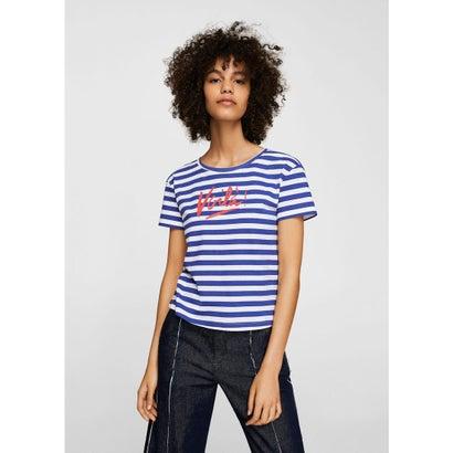 Tシャツ .-- VOILA-H (ブライトブルー)