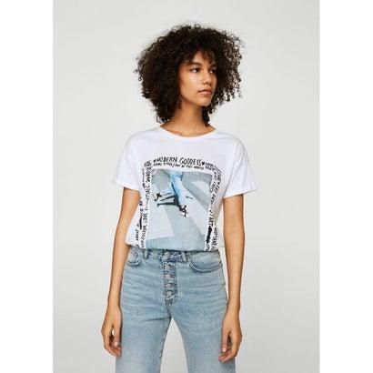 Tシャツ .-- PHOTO (ミディアムブルー)