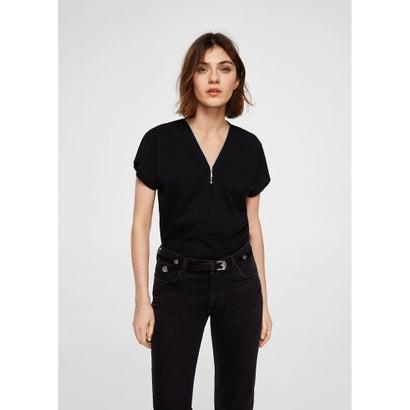 Tシャツ .-- ZIP (ブラック)