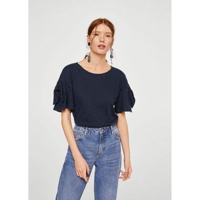 Tシャツ .-- LINOIS (ネイビーブルー)