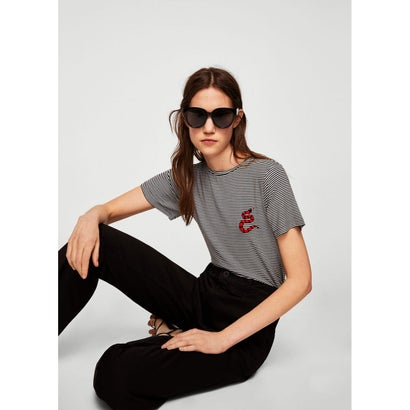 Tシャツ .-- SNAKE (ブラック)