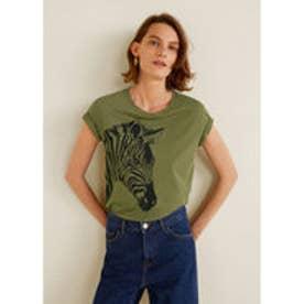 Tシャツ .-- ILUSTRA3 (ベージュ-カーキ)