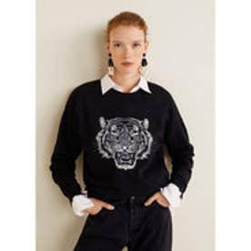 スウェットシャツ .-- TIGER (ブラック)