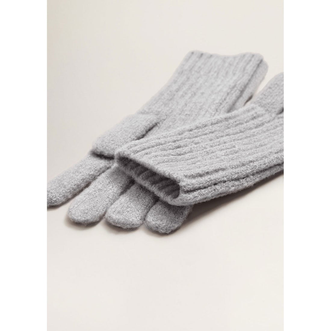 手袋-FUN(パステルグレー)