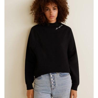 スウェットシャツ .-- COLLAR (ブラック)