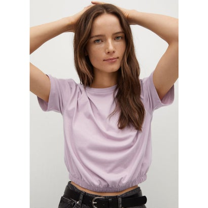 Tシャツ .-- VILA (パステルピンク)