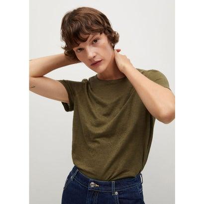 Tシャツ .-- LISINO (ベージュ-カーキ)