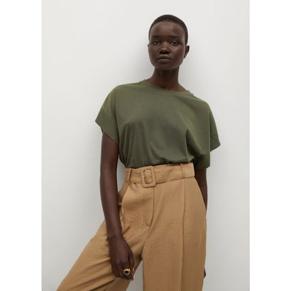 Tシャツ .-- LIRIA (ベージュ-カーキ)