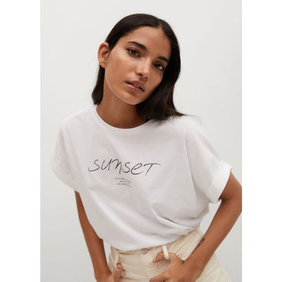 Tシャツ .-- PSTFOLD (ホワイト)