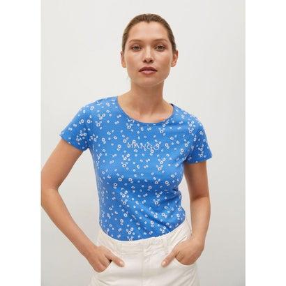 Tシャツ .-- MANGOFI-H (ミディアムブルー)