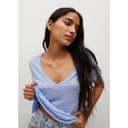 Tシャツ .-- LINITO (パステルブルー)