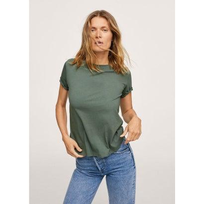 Tシャツ .-- CHALACA (ベージュ-カーキ)