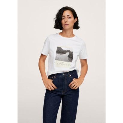 Tシャツ .-- PSGILUBI (ホワイト)