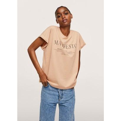 Tシャツ .-- PSTFOLD2 (パステルブラウン)