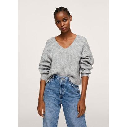 セーター .-- PICKY (パステルグレー)