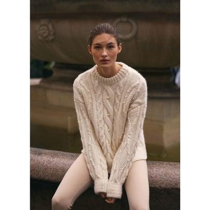 セーター .-- OTAWA (ライトベージュ)