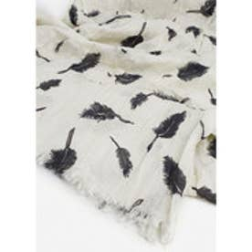 スカーフ . PLUMA  (ナチュラルホワイト)