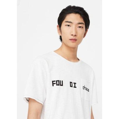 T-シャツ . CHAOS (ホワイト)