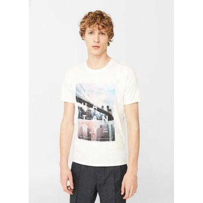 プリントTシャツ .-- NYC-H (ホワイト)