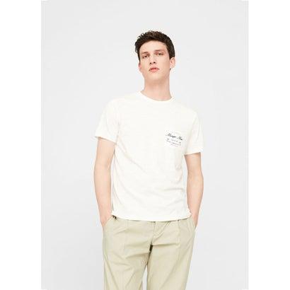 Tシャツ .-- LOGOPOK-H (ホワイト)