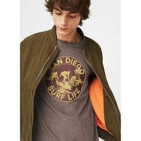 プリントTシャツ .-- DIEGO (ダークブラウン)
