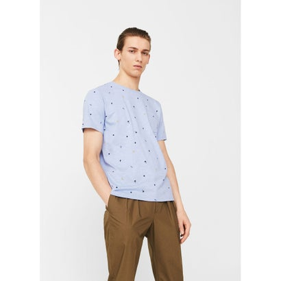 Tシャツ .-- MINIMAL-H (スカイブルー)
