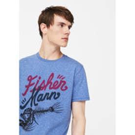 Tシャツ .-- FISHER (ミディアムブルー)