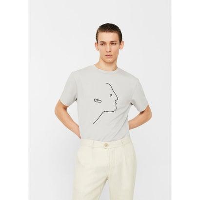 Tシャツ .-- LINEFACE (グレー)