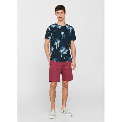 Tシャツ .-- PALMY-H (ネイビーブルー)