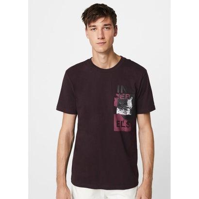 Tシャツ .-- INNER (ダークレッド)