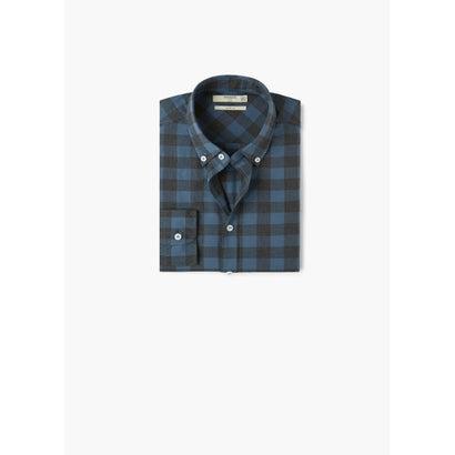 スリムフィットシャツ .-- CLAUDE1 (ミディアムブルー)