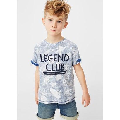 T-シャツ . LUCKY (ブルー)