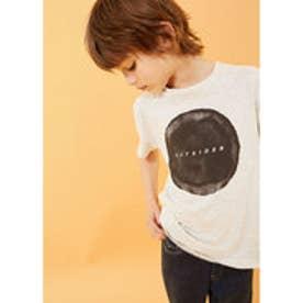 Tシャツ .-- BLACK (パステルグレー)