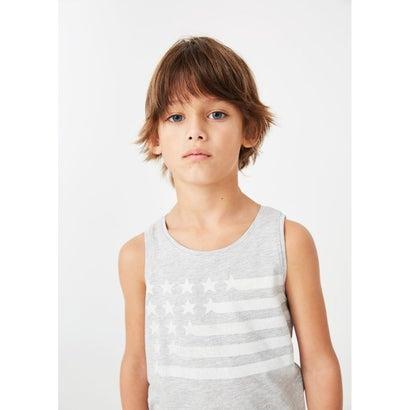 Tシャツ .-- BANDERAS (パステルグレー)