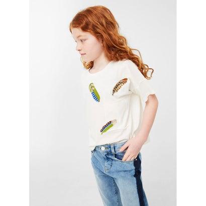 Tシャツ .-- PLUMA (ナチュラルホワイト)