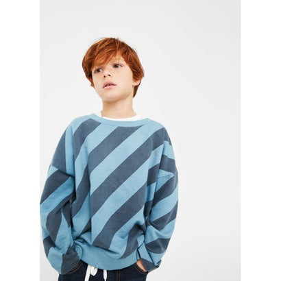 スウェットシャツ .-- LINES (ミディアムブルー)