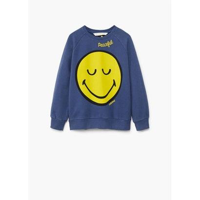 スウェットシャツ .-- SMILEYC (ミディアムブルー)